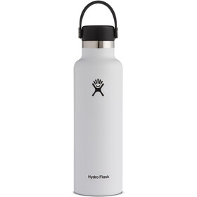 Hydro Flask Standard Mouth Stainless Steel Bottle with Standard Flex Cap 621ml, white
